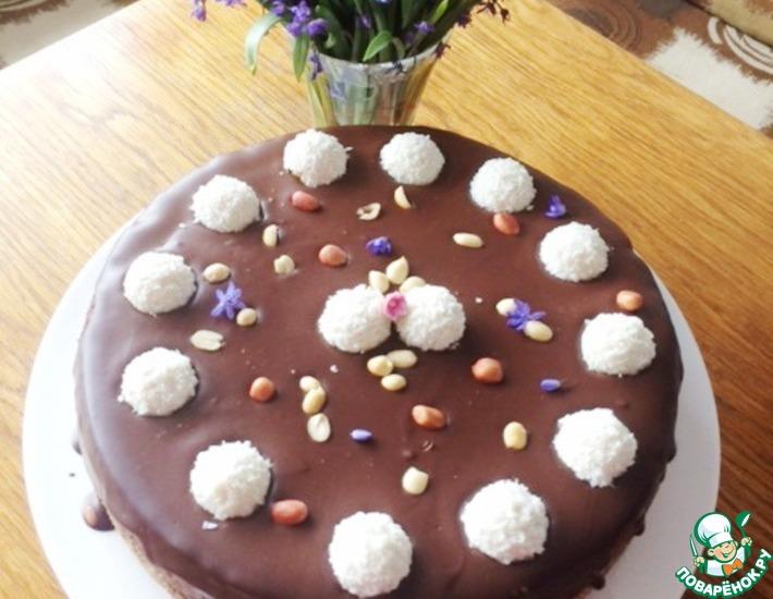 Рецепт: Шоколадный чизкейк