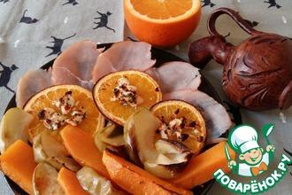 Рецепт: Тыква, запеченная с апельсинами и фетой