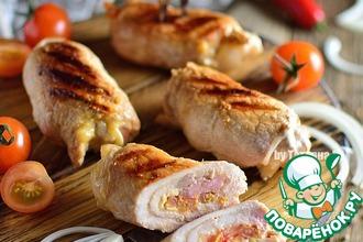 Рецепт: Свиные гриль-рулетики с томатной сальсой