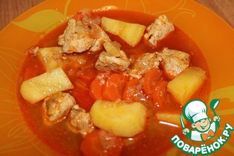 Рецепт: Суп-гуляш по-венгерски