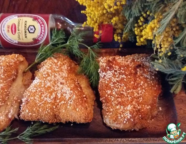 Рецепт: Рыба с сыром в кунжутной панировке
