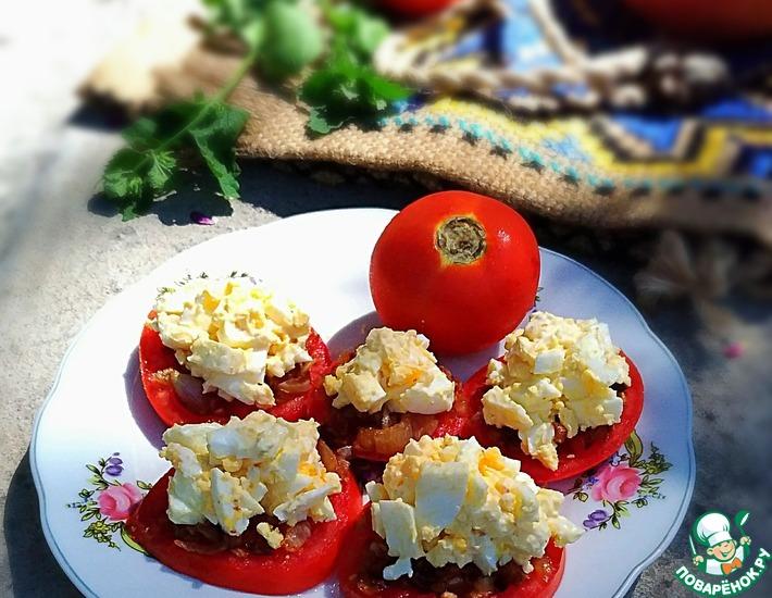 Рецепт: Закуска луково-помидорная Летняя