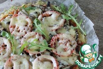 Рецепт: Овощная пицца на картофельной основе