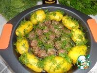 Молодой картофель с фрикадельками в духовке ингредиенты