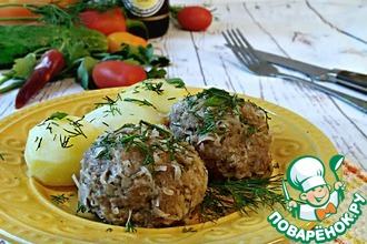 Рецепт: Картофельные шарики с мясом
