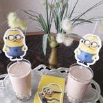 Бананово-клубнично-кофейный смузи
