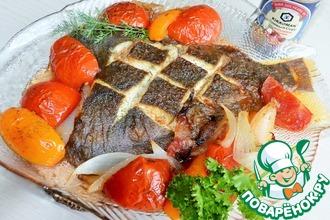 Рецепт: Камбала с томатами