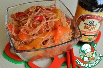 Рецепт: Фунчоза с перцем