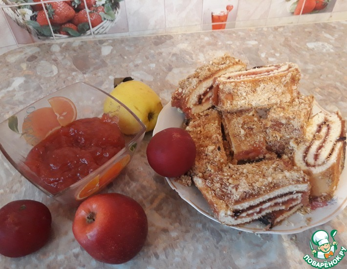 Рецепт: Яблочно-сливовое повидло в микроволновой печи