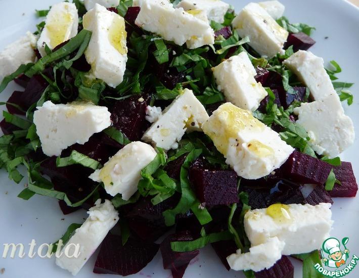 Рецепт: Салат из свеклы с фетой