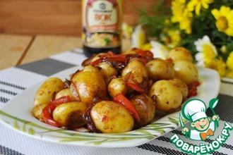 Рецепт: Жареный мелкий картофель по-корейски