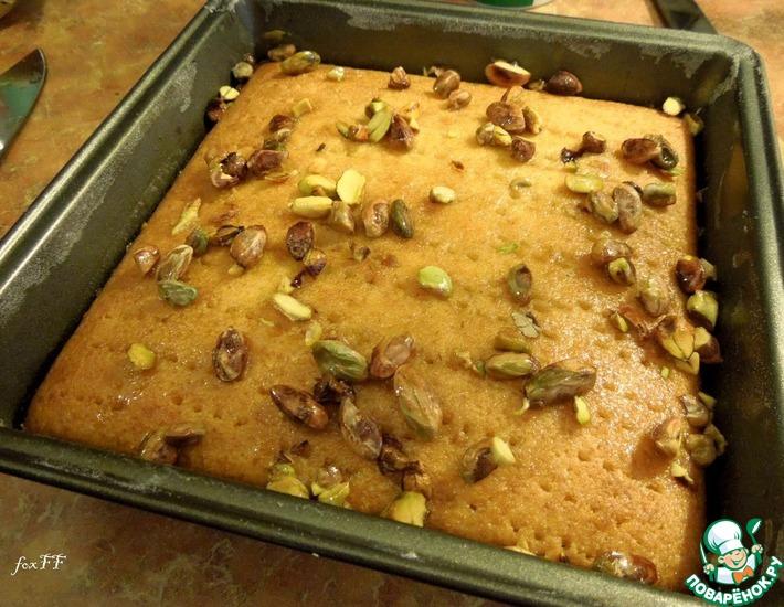 Рецепт: Греческий медово-фисташковый пирог от Дж. Оливера