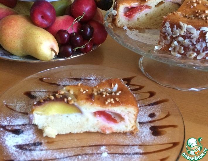 Рецепт: Пирог на йогурте с фруктами