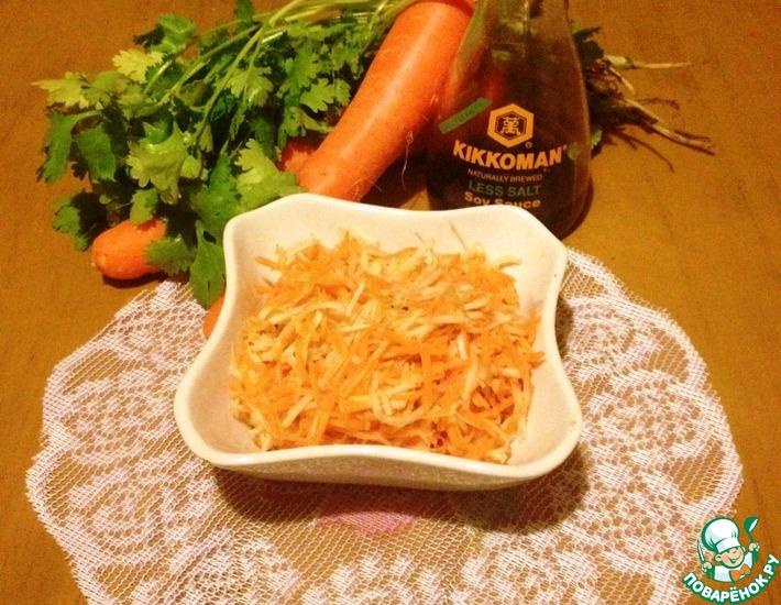 Рецепт: Кольраби по-корейски