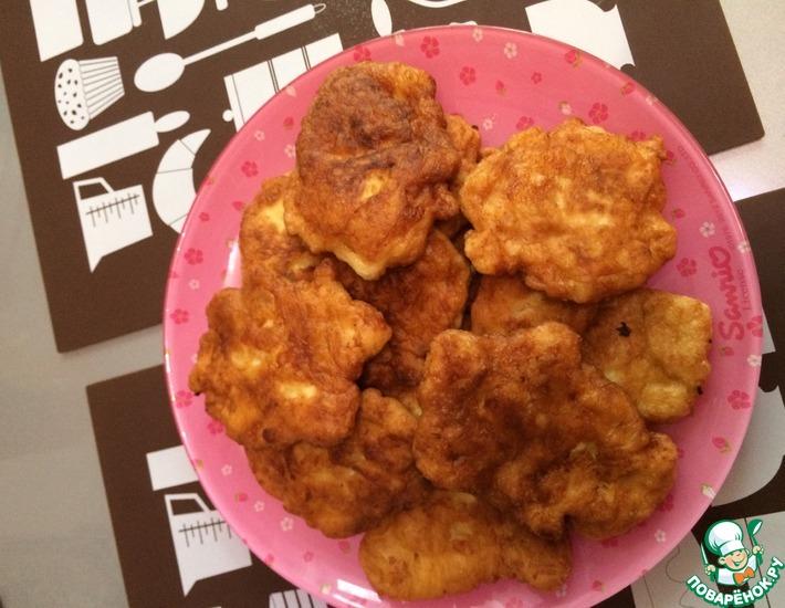 Рецепт: Оладушки из куриной грудки
