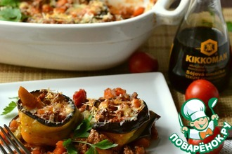 Рецепт: Овощное рагу с мясом и баклажанами