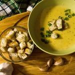 Сырный крем-суп с овощами