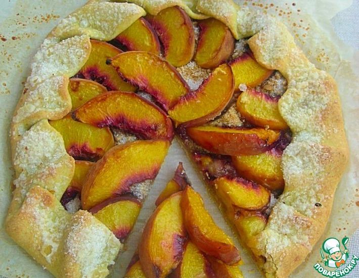 Рецепт: Кукурузная галета с персиками