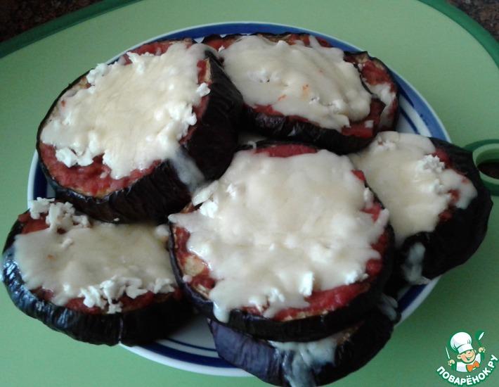 Рецепт: Запечённые баклажаны с сыром