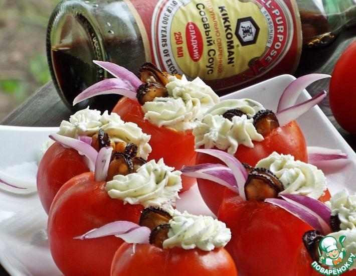 Рецепт: Закуска Помидорное лето