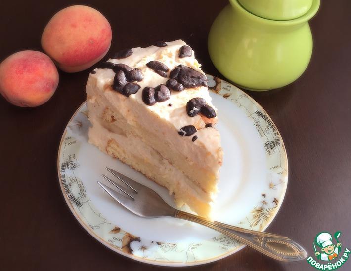Рецепт: Сливочно-кофейный торт с бананом