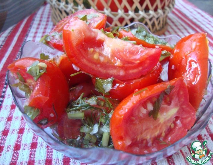 Рецепт: Пряные помидоры по-корейски