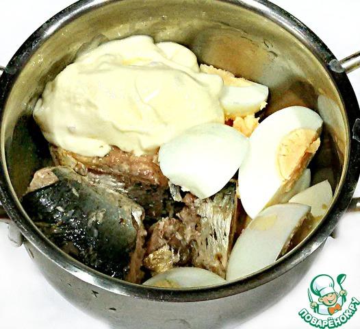 паштет из рыбных консервов рецепт