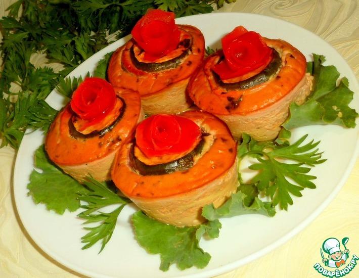 Рецепт: Тимбал из овощей в соусе