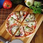 Быстрая пицца с овощами-гриль
