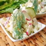 Картофельный салат с редисом