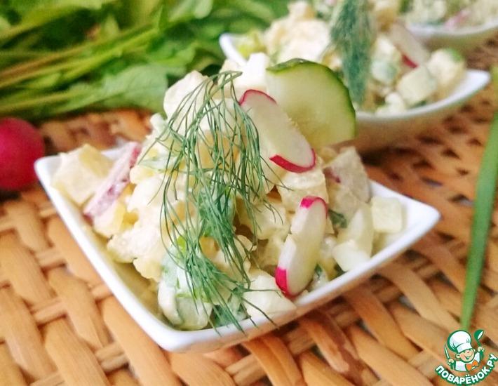 Рецепт: Картофельный салат с редисом