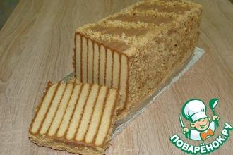 Рецепт: Торт без выпечки Полосатый