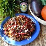 Китайский салат с баклажанами