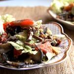 Салат с баклажаном и языком