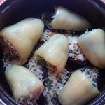 Квашеные баклажаны и перцы с капустой