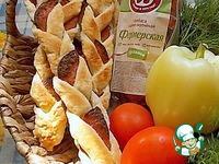 Косички слоеные с колбасой ингредиенты