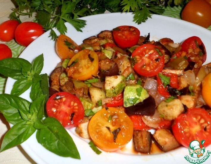 Рецепт: Овощи в соево-чесночном соусе
