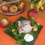 Творожно-яблочная запеканка с вяленой клюквой