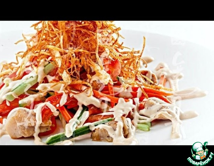Рецепт: Салат с хрустящим картофелем