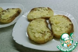 Рецепт: Сладкие гренки с сыром