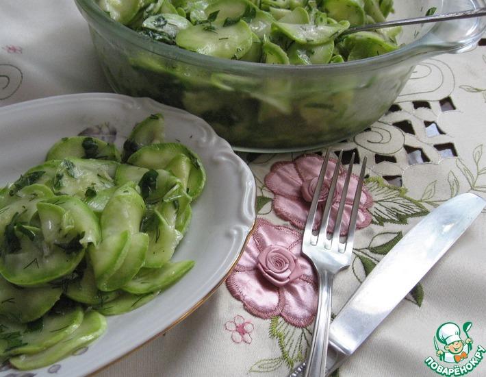 Рецепт: Маринованные кабачки мгновенного приготовления