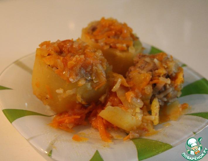 Рецепт: Фаршированный картофель
