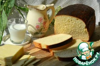 Рецепт: Белый хлеб на молоке