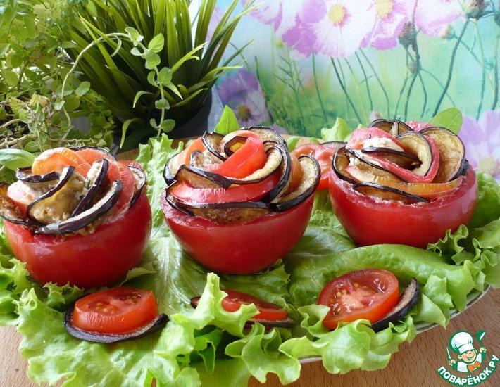 Рецепт: Закуска из помидоров и баклажанов