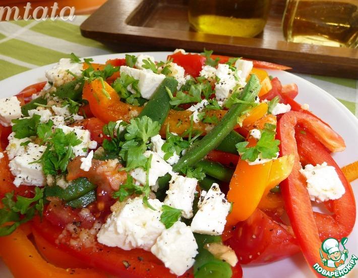 Рецепт: Зеленая фасоль по-гречески