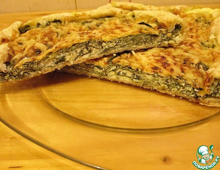 Рецепт: Киш с шпинатом и брынзой