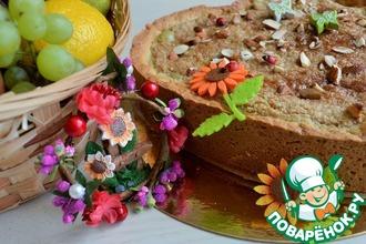 Рецепт: Пирог яблочный Осенние мотивы