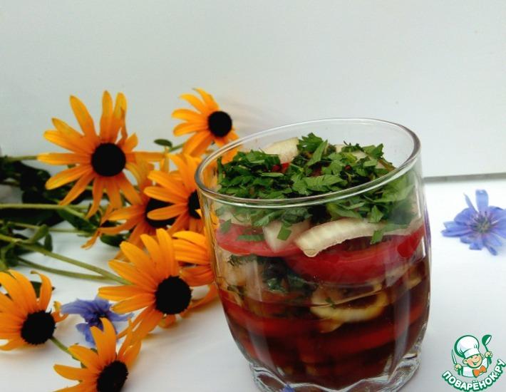 Рецепт: Маринованные помидоры Пятиминутки