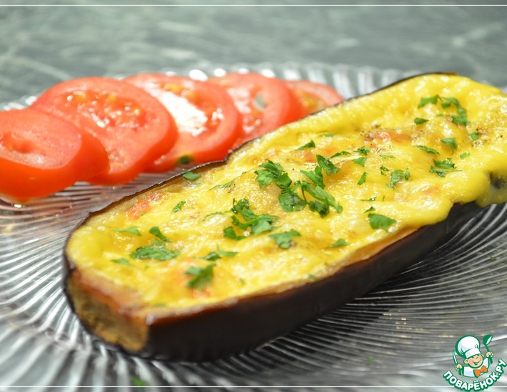 Рецепт: Запеченные баклажаны, фаршированные овощами