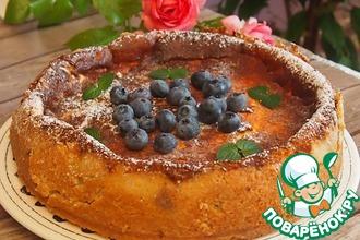 Рецепт: Сметанный пирог с черникой